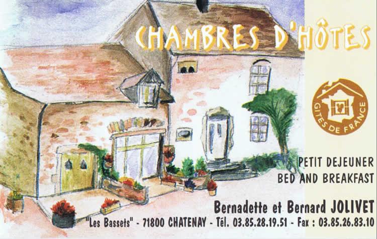 Voici Notre Carte De Visite La Version Papier On Y Voit Facade Maison Dhotes Et Une Nouvelle Fois Le Logo Des Gites France Au Dessus
